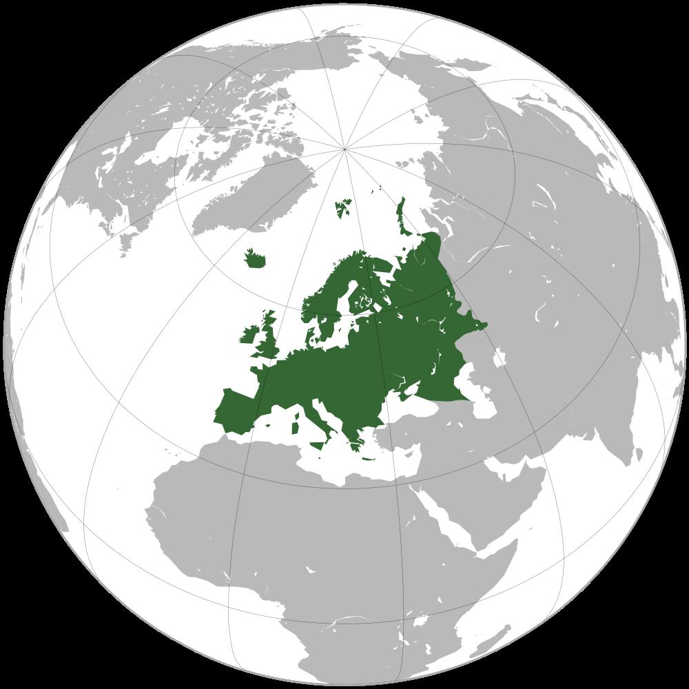 Map Of Europe Danrasta Lt